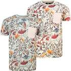 New Mens Floral T-Shirt Retro Flowers Nature Design Festival Summer Boys Tee Top