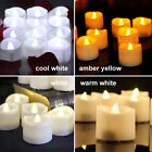 small battery operated led lights - LED Tea Lights Battery Operated Flameless Flickering Candles Realistic Electric