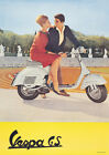 Vespa Classic Scooter 'The Gay Companions' Vintage Picture Poster Print A1 & A3+