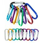 Locking Metal Carabiners - Multiple Colors and Pack Sizes
