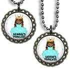Mommy's or Daddy's Princess Glitter Top Bottle Cap Necklace Chain Handmade Gift