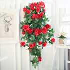 2.45m Long Silk Rose Flower Ivy Vine Leaf Garland Wedding Party Home Decors Ca