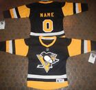 Pittsburgh Penguins Kids Size 4/7  NHL Hockey Jersey add  any name & number