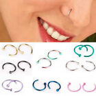 5X Unisex Fake Septum Clip On Non Piercing Swirls Septum Nose Ring Faux Clicker image