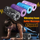 4 Speed Electric Yoga Vibrating Foam Roller Massage Body Muscle Stress Relief
