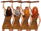 CAVEMAN FANCY DRESS COSTUME WIG BEARD CLUB PREHISTORIC CAVE MAN TARZAN OUTFIT