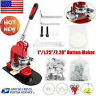 Button Maker Badge Punch Press Machine 1' 1.25' 2.28' 1000 Parts +Circle Cutter