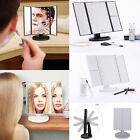 24 LED Magnifying Makeup Cosmetic Light Up Mirror Large Touch Screen Tri-Fold