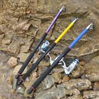 Portable Carbon Fiber UltralightTelescopic Fishing Rod Sea Travel Spinning Pole