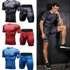 High Elastic Running Set Men Quick Dry Fitness Tight Apparel For Gym Sport