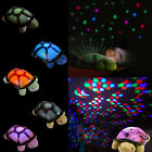 Turtle LED Night Light Star Projector Musical Lamp Baby Kids Bedroom Decor Gift