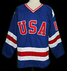 ERIC STROBEL #19 1980 TEAM USA MIRACLE ON ICE HOCKEY JERSEY SEWN NEW ANY SIZE