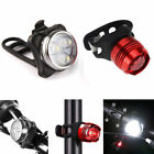 USB Rechargeable LED Bicycle Bike Cycling Head Front Lamp & Tail Light Sett NE