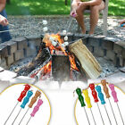 Sunnydaze Marshmallow Roasting Skewer Set w/ Multi Color Handles - Choose Option
