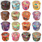 Handmade Patchwork Ottoman Covers Ethnic Pouf Indian Foot Stool Covers