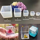 DIY Silicone Pendant Mold Jewelry Making Cube Resin Casting Mould Craft Tool QY
