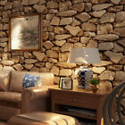 3D Antique Home Bar Simulation Stone Brick Wallpaper Stickers Mural Decorations