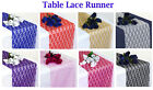 "PACK of 10 Wedding 12"" x 108"" Lace Table Runner Party Venue banquet Decoration"