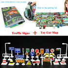 Kids Play 28pcs Road Traffic Signs&Map Signal Plastic Kids Learn Educational Toy