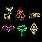 6Types LED Neon Night Lamp PVC Neon Sign Wall Light for Rooms Ceramic New