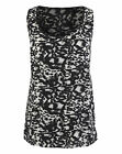 Womens Animal Print Woven Vest Simply Be