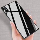 fashion square glossy tempered glass phone case
