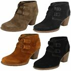 Ladies Clarks Carleta Lyon Suede Leather Lace Up Ankle Boots D Fitting