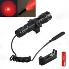 501B 5000LM White Green LED Tactical flashlight with pressure switch for Rifle