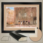 """44W""""x32H"""": WAITING FOR CAB PARK AVENUE by MAX MORAN DOUBLE MATTE GLASS and FRAME"""