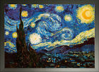 Framed Vincent Van Gogh Starry Night Poster (24x18 inches)