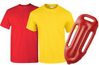 LIFEGUARD COSTUME T-SHIRT AND FLOAT MENS WOMENS 1980S FANCY DRESS OUTFIT SUMMER