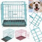 "14"" Small Dog Pet Cat Crate Cage Kennel Metal Folding Door Tray Travel Portable"