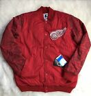 Detroit Red Wings STARTER Retro Satin Graffiti Snap Jacket, Red Men NHL L XL $49.99 USD on eBay
