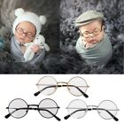 Cute Newborn Baby Boy Girl Flat Glasses Photography Props Gentleman Studio Shoot