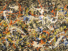 Jackson Pollock Art Gallery in Buffallo HD Print on Canvas Wall Picture Multi
