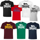 Lonsdale Classic Logo Lion T-Shirt Black Grey Blue Oxblood White Red Green