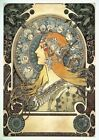 Artwork of a Woman | By Alfons Mucha | Vintage Poster | A1, A2, A3
