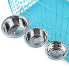 Stainless Steel Hook On Feeding Bowl Pet Rabbit Bird Cat Dog Food Water Cage Cup