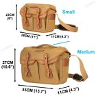 Small & Medium Camera Bag Canvas DSLR SLR Messenger Shoulder Sling Bag Unisex