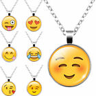 Fashion Women Girls Cute Emoji Pattern Pendant Necklace Sweater Chain For Gift