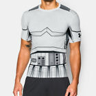 Under Armour Trooper Mens White Compression Short Sleeve T Shirt Tee Top