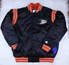 Anaheim Ducks STARTER Retro Satin Snap Winter Jacket, Black, Men M, L NHL $54.99 USD on eBay
