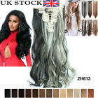"Hair Extensions remy human hair Full Head Clip Long 20-25"" 12 pieces accessories"