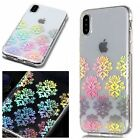 Holographic Laser Glossy Soft TPU Clear Case Cover For iPhone XS Max/XR 7 8 Plus