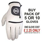 SG Men white All Weather Golf Gloves cabretta Leather thumb and palm patch