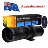 AU 420-800mm f/8.3-16 Adapter Zoom Telephoto Lens For Canon EOS Sony SLR Camera
