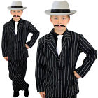 CHILD GANGSTER COSTUME AND WHITE HAT BOYS 1920S FANCY DRESS THEATRE STAGE SHOW