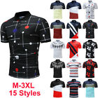 New Fashion Mens Slim Fit POLO Shirts Short Sleeve Casual Golf T-shirt Tee Tops