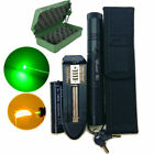 50Miles 5MW Laser Pointer Lazer Pen Beam Burn Zoom+18650 Battery Charger+Holster