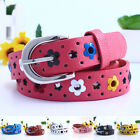 Внешний вид - New Pu Strap Baby Leather Casual Buckle Adjustable Kids Girls Florl Belt Waist